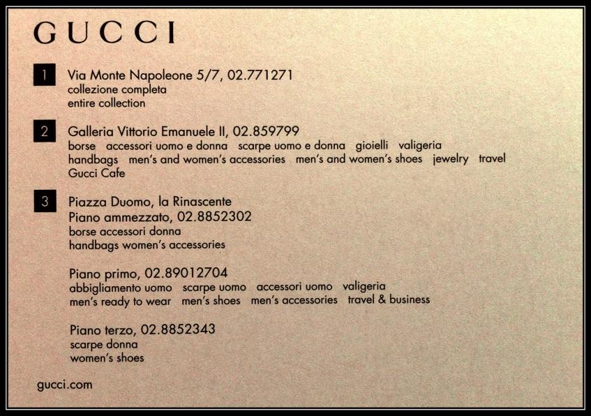 Gucci Map - Back