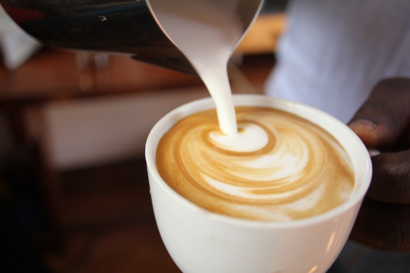 Pouring Cappuccino