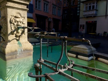 Knight Fountain Close-Up
